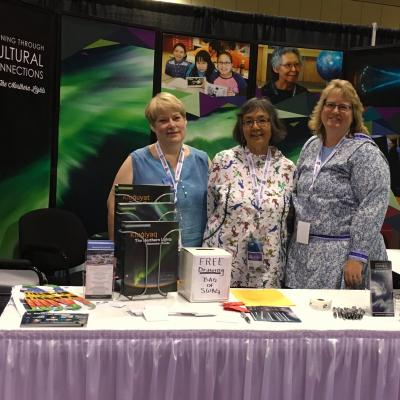 Lynda McGilvary, Annie Conger and Doreen Hayward at the World Indigenous Peoples Conference on Education in Toronto Canada.