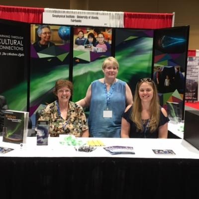 Jan Parks, Lynda McGilvary and Lori Schoening at the 2017 National Science Teachers Association STEM Forum and Expo in Orlando Florida.